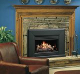 Vented Gas FP Insert w/4 Piece Logs, BL Grill Kit & Surround - NG