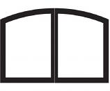 ECS VFR36SCBL Arch Fireplace Doors - Matte Black