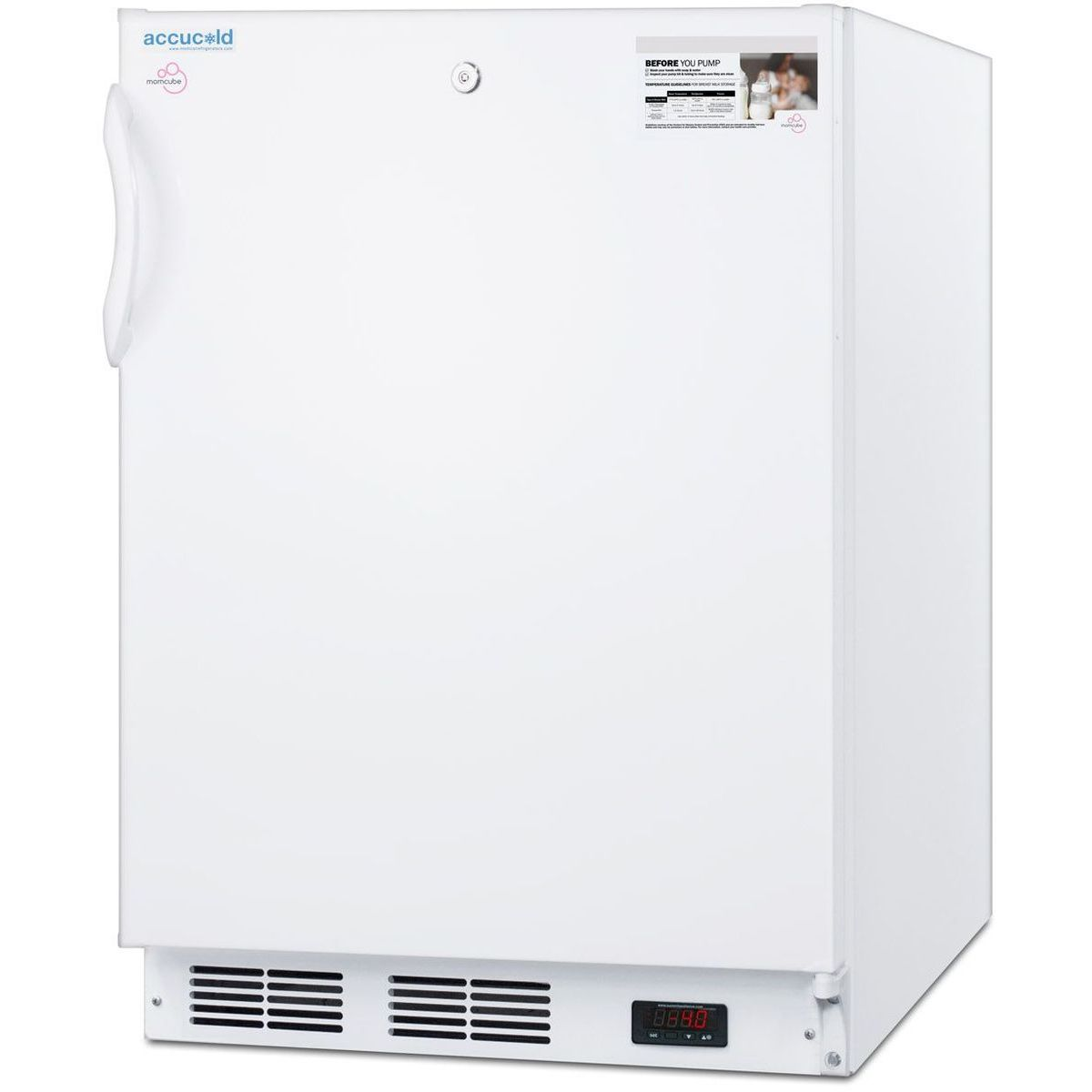 Summit VT65MLBIMCADA 3.5 Cu Ft ADA Width MOMCUBE Breast Milk Freezer