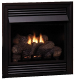Vail Vent-Free NG Premium 32,000 BTU Fireplace with LS24RS Log Set