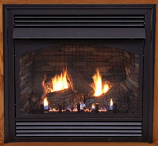"Premium 36"" Vent-Free Thermostat Control LP Fireplace with Blower"