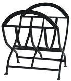 W1038- Black Wrought Iron Log Rack