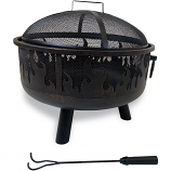 Endless Summer Black Wood Burning Fire Pit With Flames