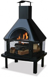 Black Firehouse With Chimney WAF1013C By Uniflame