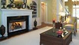 """Superior 42"""" Louvered Fireplace w/Firebox and White Stacked Panel"""