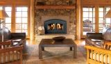 EPA Certified CAT Wood Burning Fireplace w/White Stacked Panels