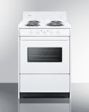 Summit WEM610W 24'' Wide Electric Coil Top Range - White