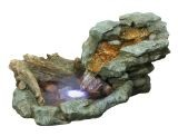 Alpine WIN568 Rock Waterfall Fountain with LED Lights