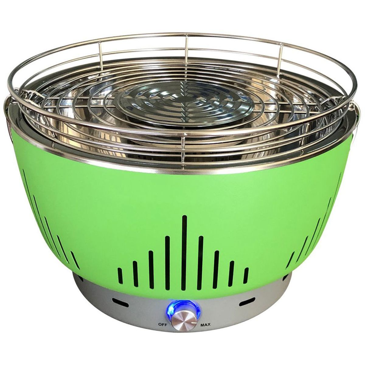 WPPO Portable Fan Controlled Charcoal BBQ Grill With Bag - Green