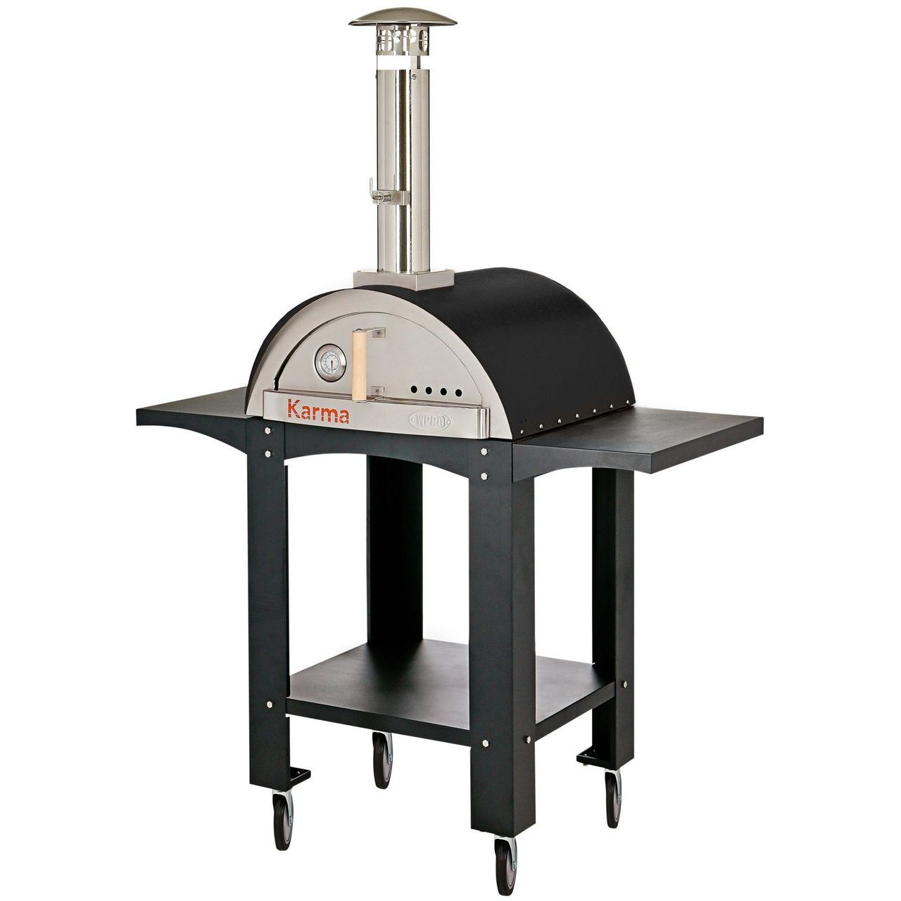 WPPO Karma 25 Wood Fired Pizza Oven With Black Stand - Black