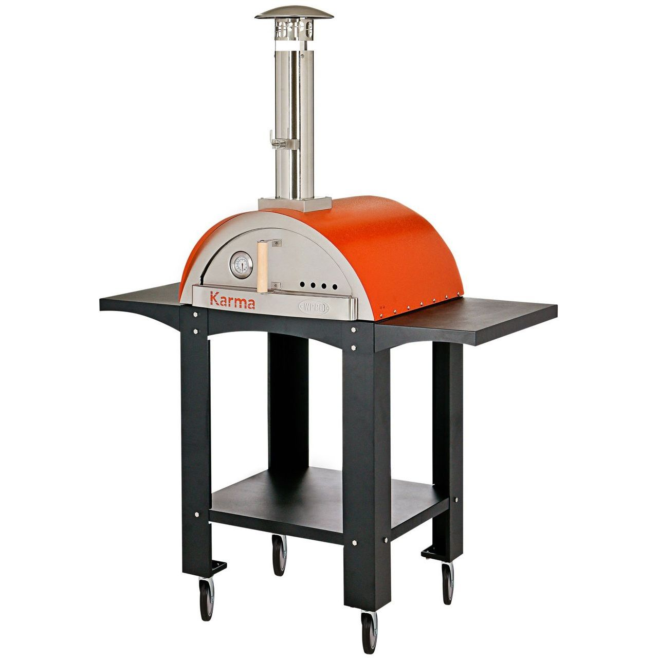 WPPO Karma 25 Wood Fired Pizza Oven With Black Stand - Orange