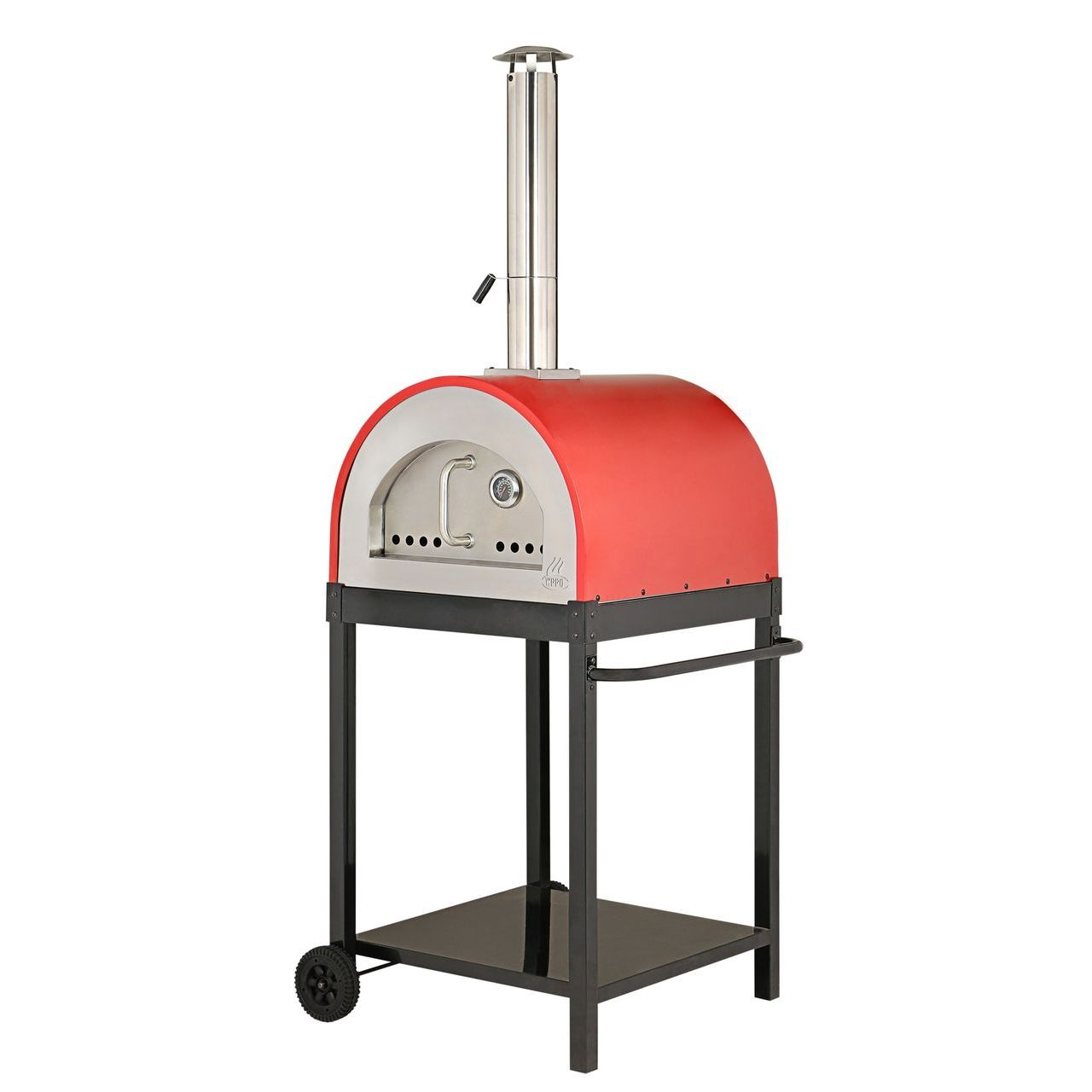 """WPPO Traditional 25"""" Eco Wood Fired Pizza Oven With Stand - Red"""