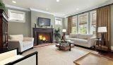 """Superior 50"""" Paneled Wood Burning Fireplace w/White Herringbone Panels"""