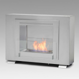 Wellington 2-Sided Built in Fireplace - Stainless Steel