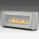Santa Cruz 2 Sided Built in Fireplace - Stainless Steel