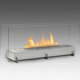 Vision II 2-Sided Built in Fireplace - Stainless Steel