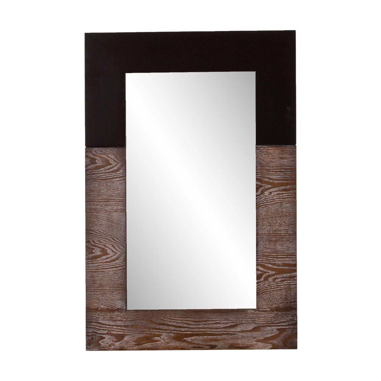 Holly & Martin Wagars Mirror in Burnt Oak/Black
