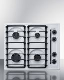 Summit WTL033S 24'' Wide 4-Burner Gas Cooktop - White