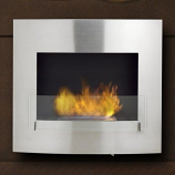 Wynn Wall Mounted or Built in Fireplace - Stainless Steel
