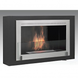 Montreal Wall Mounted Fireplace - Matte Black