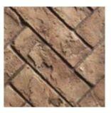 ZCV47RLH 3 Piece Herringbone Refractory Fiber Brick Liner