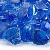 AFG ZIR-MIDBLLST-10 Midnight Blue Luster Zircon Fire Glass - 10 lbs.