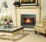 B-Vented IPI Gas Fireplace w/TO Logs & Black Grill Kit - NG