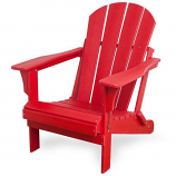Westin Outdoor Laguna Poly Adirondack Chair, Red