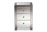 Contemporary Hollywood Regency Glamour Style Accent Side Table
