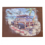 Shelter Logic Margaritaville Rectangle Wall Art Surf Truck Sign