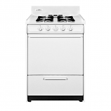 "Summit 24"" Gas Range with Electronic Ignition - White"