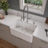 "ALFI ABF3018 30"" White Thin Wall Single Bowl Kitchen Farm Sink"