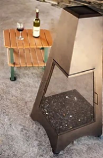 """46"""" Bronze Pyramid Outdoor Gas Chiminea with Screen - NG"""