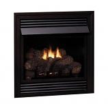 Vail Vent-Free Premium 32,000 BTU LP Fireplace with LS24EF Log Set