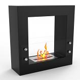 Regal Flame EF6005BK Dora Ventless Free Standing Ethanol Fireplace in Black