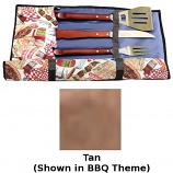 Blue Flame BBQ.UT.TAN Barbecue Utensil Holder With Pockets - Tan