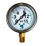 Zenport LPG15 15 psi Glycerin Liquid Pressure Gauge