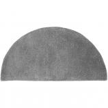 Minuteman Half Round 44'' x 22'' Hearth Rug - Dove Gray