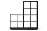 Sunna Dark Brown Modern Cube Shelving Unit