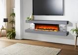 Evolution Fires EFV72BTC 72'' Vegas Electric Fireplace - Carrara Grey