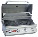 30 Inch Stainless Steel Lonestar Select 4-Burner Barbecue Grill Natural Gas