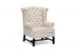 Baxton Studio Sussex Beige Linen Club Chair