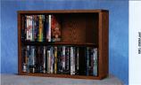 Solid Oak 2 Row Dowel DVD Cabinet Tower Model 215-24
