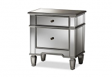 Sussie Hollywood Regency Glamour Style Mirrored 2-Drawer Nightstand