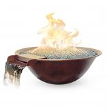 "30""x9"" Luna Fire/Water Bowl Elec-LP 70lb Glass"