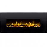 Regal Flame LW5050BK Ashford 50in Black Electric Wall Mounted Fireplace - Log