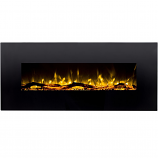 Regal Flame LW5050BK Ashford 50in Black Electric Wall Mounted Fireplace - Log