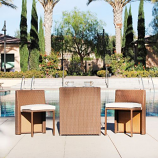 Westin Outdoor Mason 3-Piece Conversation Set with Cushions