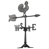 24-Inch Rooster Accent Weathervane - Black