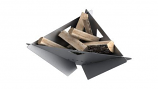 MF Fire MI-MFD-SS Delta Wood Burning Firepit in Stainless Steel - Collapsible